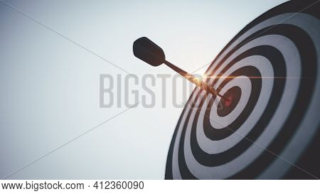 Bullseye Is A Target Of Business. Dart Is An Opportunity And Dartboard Is The Target And Goal. So Bo