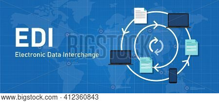 Edi Electronic Data Interchange Software System To Process Paper To Paperless Paperwork Exchange Bet