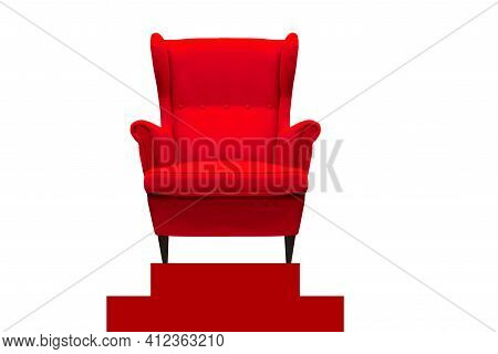 Exquisite Red Sofa, Beautiful Sea View, Sunrise, Scenery Pictures In The Morning, At Sunrise, At The