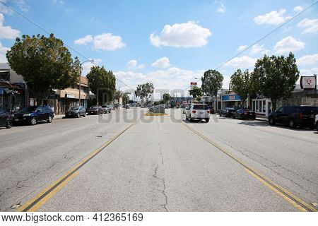 March 12, 2021 - Montebello, California: City of Montebello, Welcome Sign.