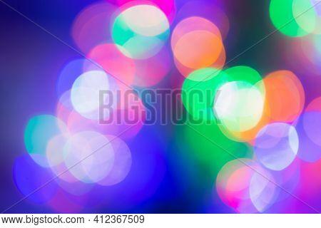 Led Lights Background. Bokeh Background. Led Bokeh Background. Abstract Background For Web Template.