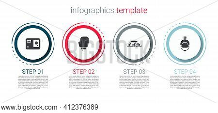Set Action Extreme Camera, Boxing Glove, Formula 1 Racing Car And Helmet And Action. Business Infogr