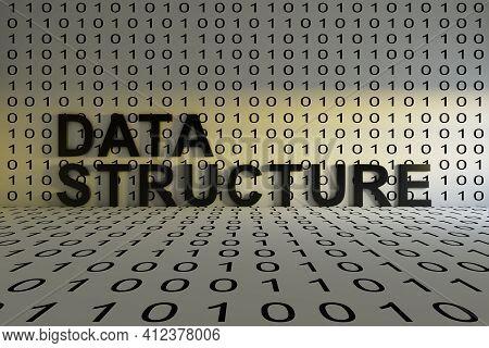 Data Structure Concept Text Sunlight 3d Illustration