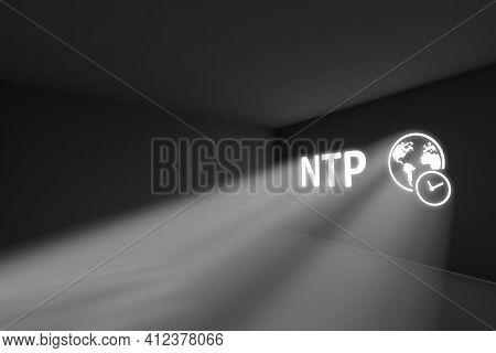 Ntp Rays Volume Light Concept 3d Illustration