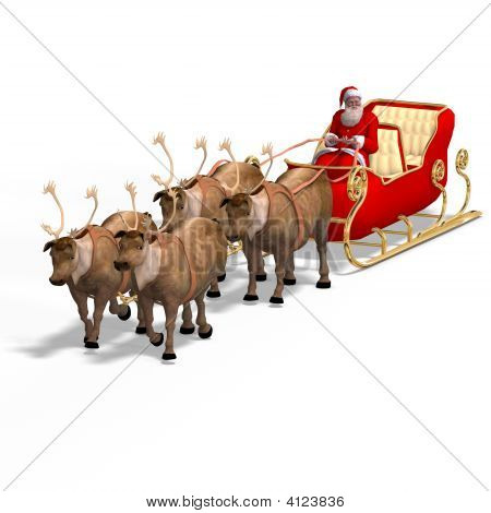 Render Of Santa Claus - Merry Xmas