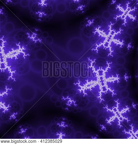 Data Flow Wave In Abstract Style On Purple Background. Multithreading Technology Bigdata Twisting In