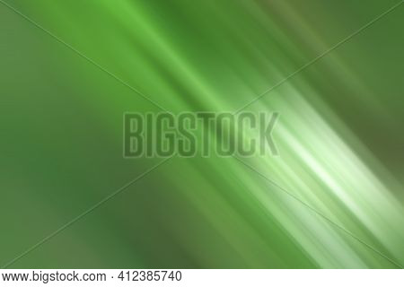 Abstract Green Blurry Background. Green Light And White Artistic Gradient Color Backgrounds. Green D