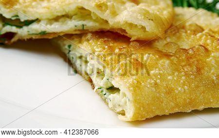 Kalaneh  - Kurdish Scallion  Jewish Cheese Bread   Traditionally This Flatbread