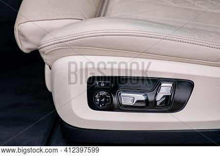 Seat Control Panel In A Luxurious Car