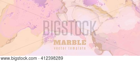 Rose Elegant Background. Liquid Marble Paper. Graphic Pastel Paint. Fluid Invitation. Pink Elegant B