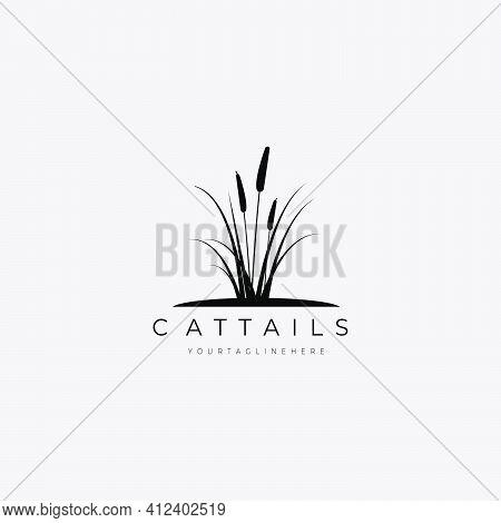 Cattails Logo Vector Illustration Design Good For Nature Symbol