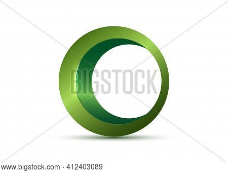 Green Organic Products Icon In Frame, Food Package Label Vector Design. Organic Food Logo No Chemica