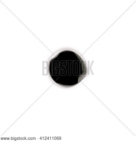 Bullet Holes Target Realistic Composition On Blank Background With Isolated Image Of Single Bullet S