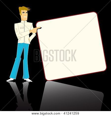 mister pub. Mister pub with a board for your advertising