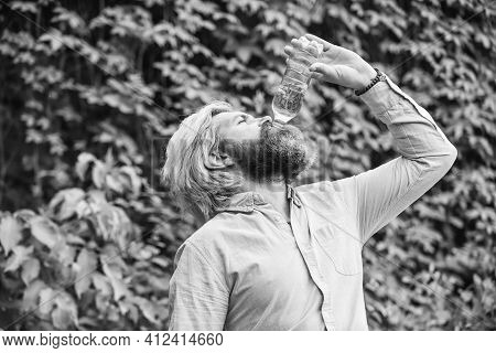 To The Dregs. Feeling Thirsty. Drink Some Water While Walking In Park. Get Refreshed. Maintain Water