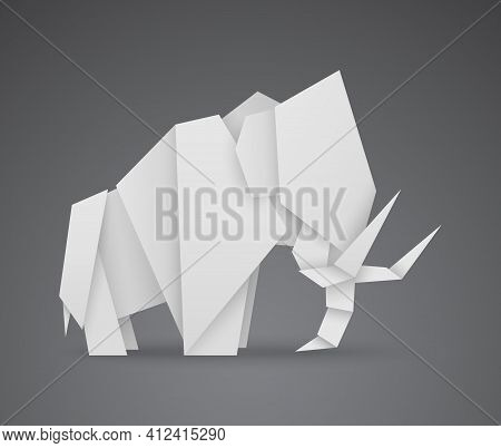 Vector Paper Mammoth, Origami Is A Popular Art Form