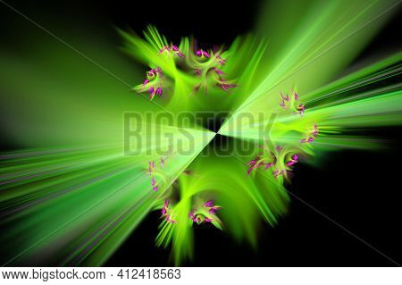 3D Abstract Fractal Background.