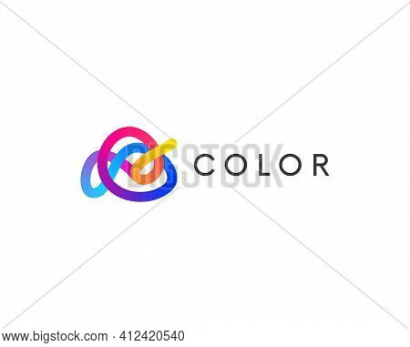 Modern Minimal Abstract Colorful Logo Shape Vector Design. Linear Logotype Abstraction.