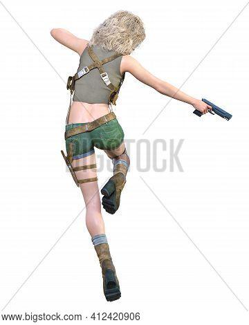 3D Comics Cosplay Anime Secret Agent Woman.