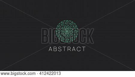 Abstract Geometric Data Science Logo Icon. Polygonal Logotype.