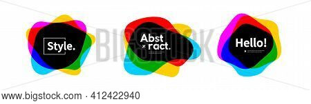 Abstract Geometric Form. Colorful Shapes Logo Banner Templates.
