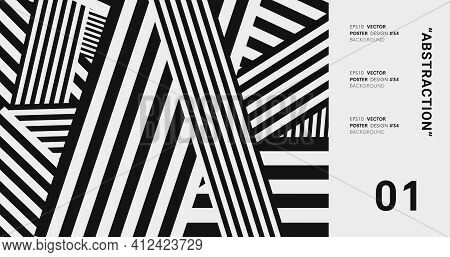 Abstract Modern Background With Stripes. Striped Pattern Vector Design.