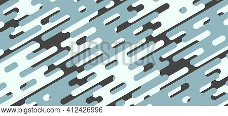 Abstract Geometric Style Of Round Line Pattern Artwork Template. Overlapping For Stripe Line Design