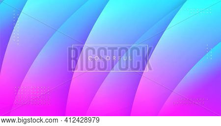 Abstract Background With Fluid Shapes Vector Design. Minimal Poster. Futuristic Backdrop. Dynamic 3D