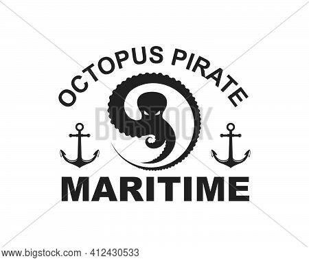 Octopus Icon Logo Vector Illustration Design