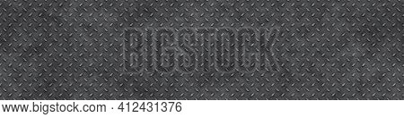 An illustration of a diamond metal plate