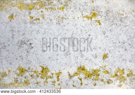 Yellow-gray Abstract Background. Corroded Metal Background. Oxidized Metal, Rusty Metal Texture, Sur