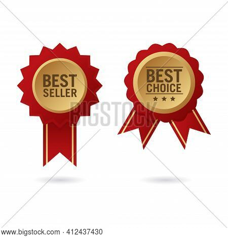 Vector Illustration Of Best Selling Badge. Perfect For Design Element From Top-notch Store, Bestsell