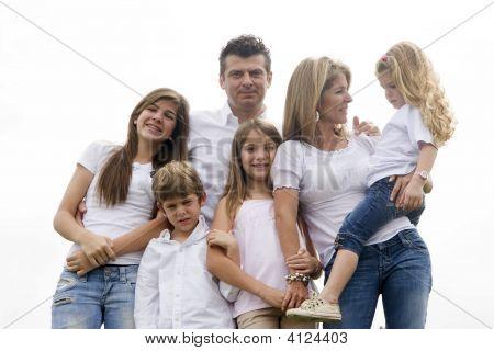 Portrait Of Family Enjoying Together