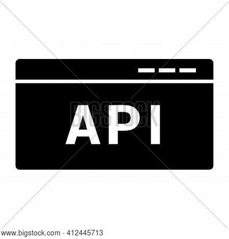 Api Code Icon Isolated On White Background Flat Style.