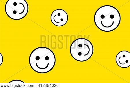 Emoticon Vector Illustration. Emoticon Face On A White Background. Different Emotions Collection