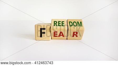 Freedom From Fear Symbol. Turned Wooden Cubes And Changed The Word 'fear' To 'freedom'. Beautiful Wh