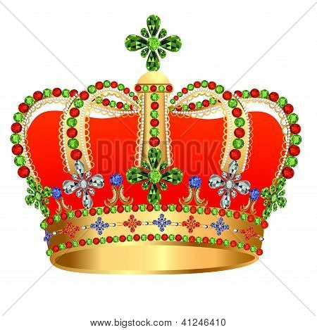 Of Royal Gold Crown With Jewels