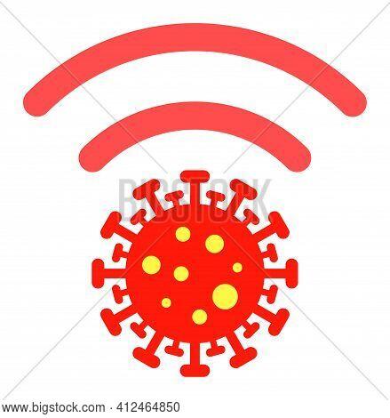Coronavirus Distribution Icon. Illustration Style Is A Flat Iconic Symbol. Simple Coronavirus Distri