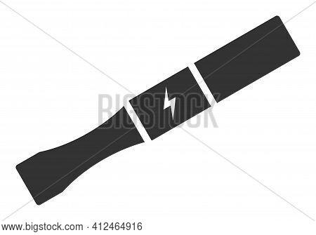 Electronic Cigarette Icon. Illustration Style Is A Flat Iconic Symbol. Simple Electronic Cigarette V