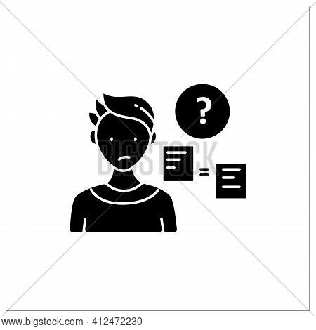 Comparative Research Method Glyph Icon.lack Of Method For Comparing Information.compare New Informat