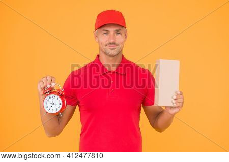 Time Is Value. Delivered To Your Destination. Service Delivery. Courier And Delivery. Postman Delive