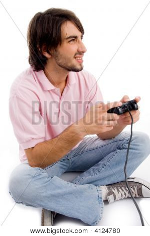 Young Man Playing Video Games
