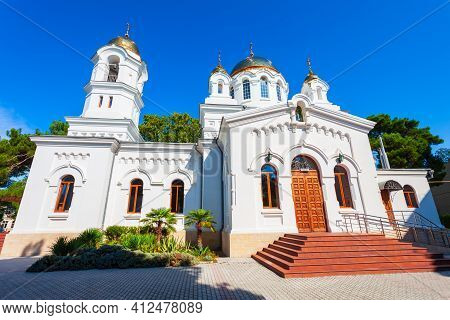 Cathedral Of The Holy Ascension In The Centre Of Gelendzhik Resort City Located On The Black Sea Sho