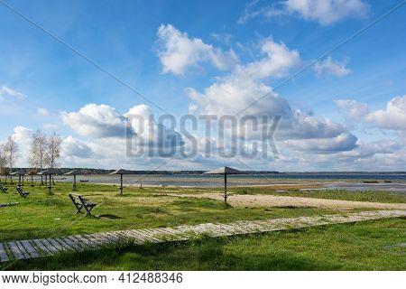 Svitiaz Lake, Shatsk National Natural Park, Volyn Region, Ukraine. The Shatskyi Lakes Group. Beach B