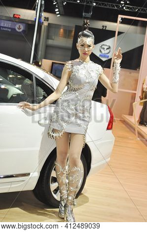 Bangkok-december 6 Pretty At  Motor Expo 2012 On Decrmber6  , 2012 In Bangkok, Thailand