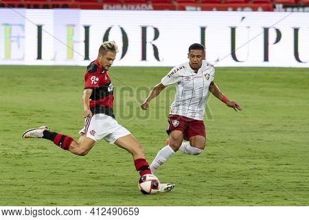 Rio, Brazil - March 14, 2021: Noga Player In Match Between Flamengo V Fluminense By Carioca Champion