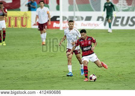 Rio, Brazil - March 14, 2021: Joao Gomes Player In Match Between Flamengo V Fluminense By Carioca Ch