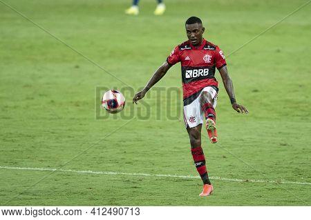 Rio, Brazil - March 14, 2021: Ramon Player In Match Between Flamengo V Fluminense By Carioca Champio