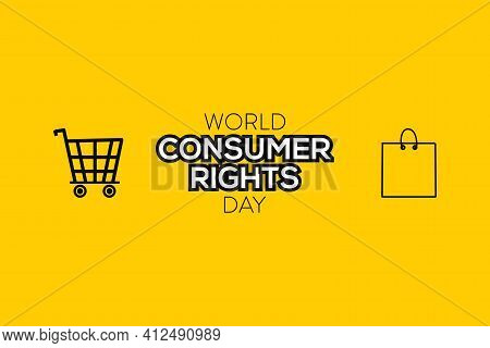 World Consumer Rights Day, 15 March. Shopping Bags Conceptual Illustration Vector. Consumer Rights D