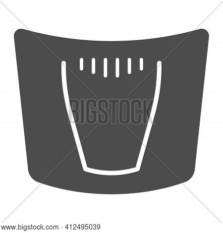 Car Hood Solid Icon, Car Parts Concept, Car Bonnet Sign On White Background, Automobile Hood Icon In